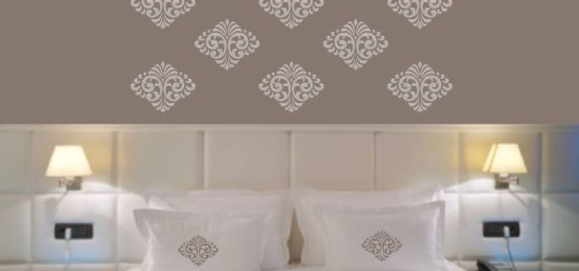wandmalerei mit schablonen von precious walls by lijali laserarts design andrea weissenseel. Black Bedroom Furniture Sets. Home Design Ideas