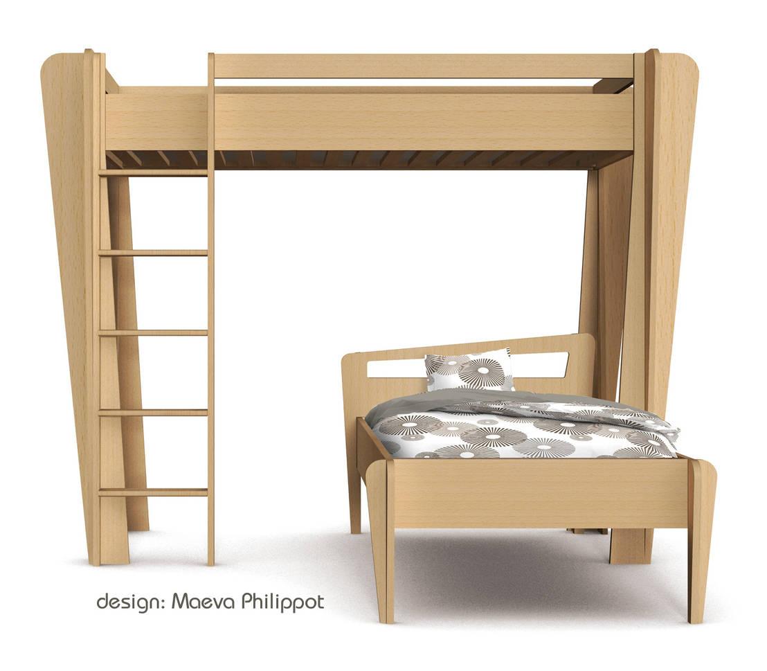 lit mezzanine trap ze de zinezo par zinezo homify. Black Bedroom Furniture Sets. Home Design Ideas