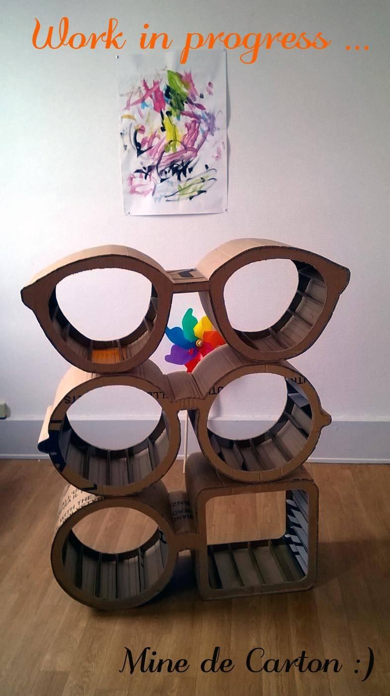 etag re modulable lunettes profesjonalista mine de carton homify. Black Bedroom Furniture Sets. Home Design Ideas
