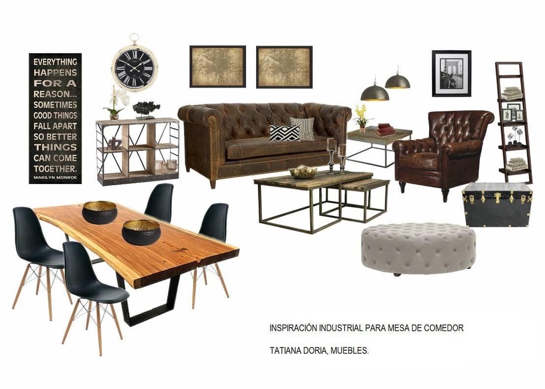 Mesa de comedor estilo industrial de tatiana doria dise o for Diseno de interiores estilo industrial