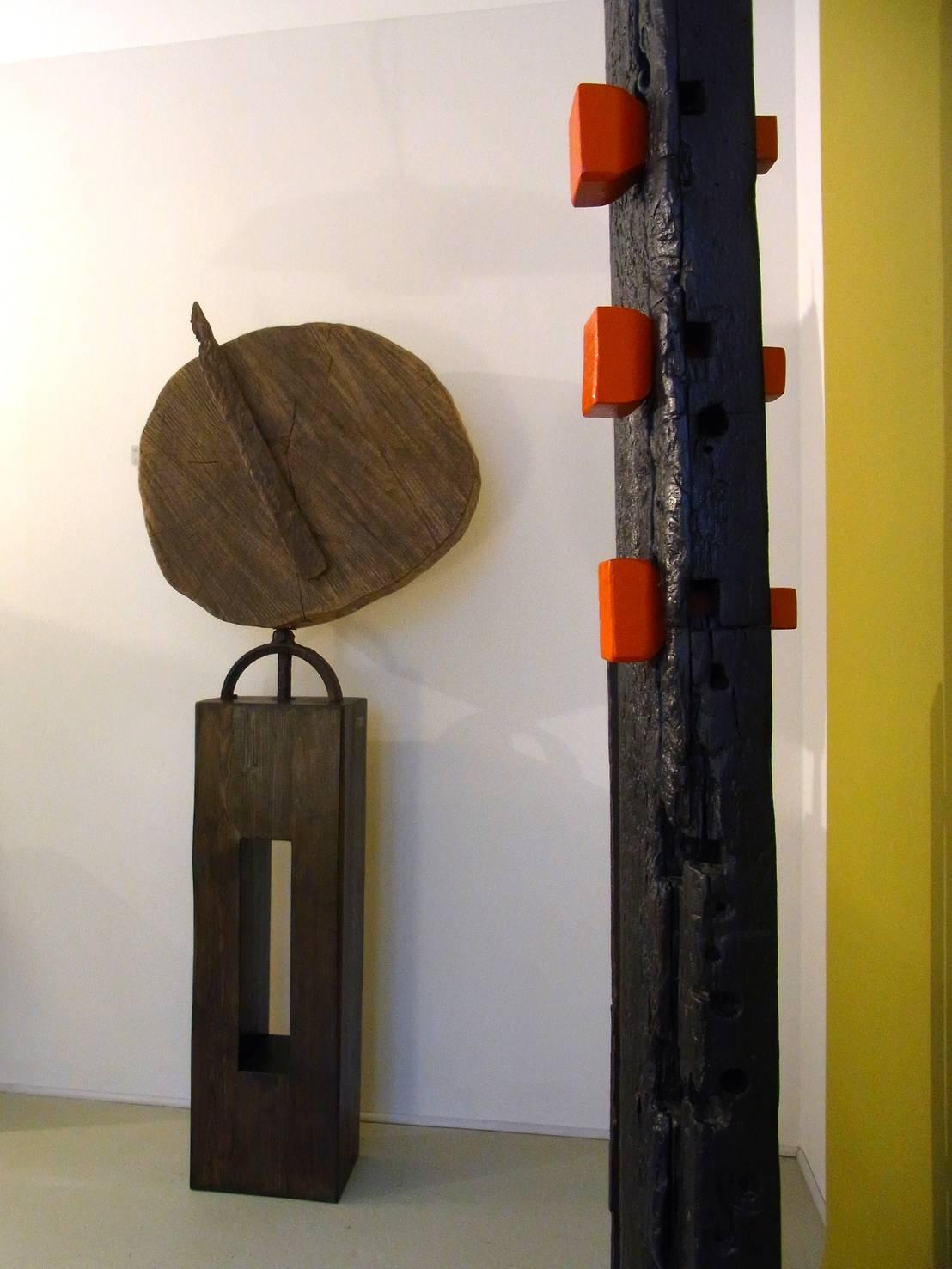 der zeit voraus 2014 kunstobjekt aus holz stahl von bernd kohl objekte in holz und. Black Bedroom Furniture Sets. Home Design Ideas