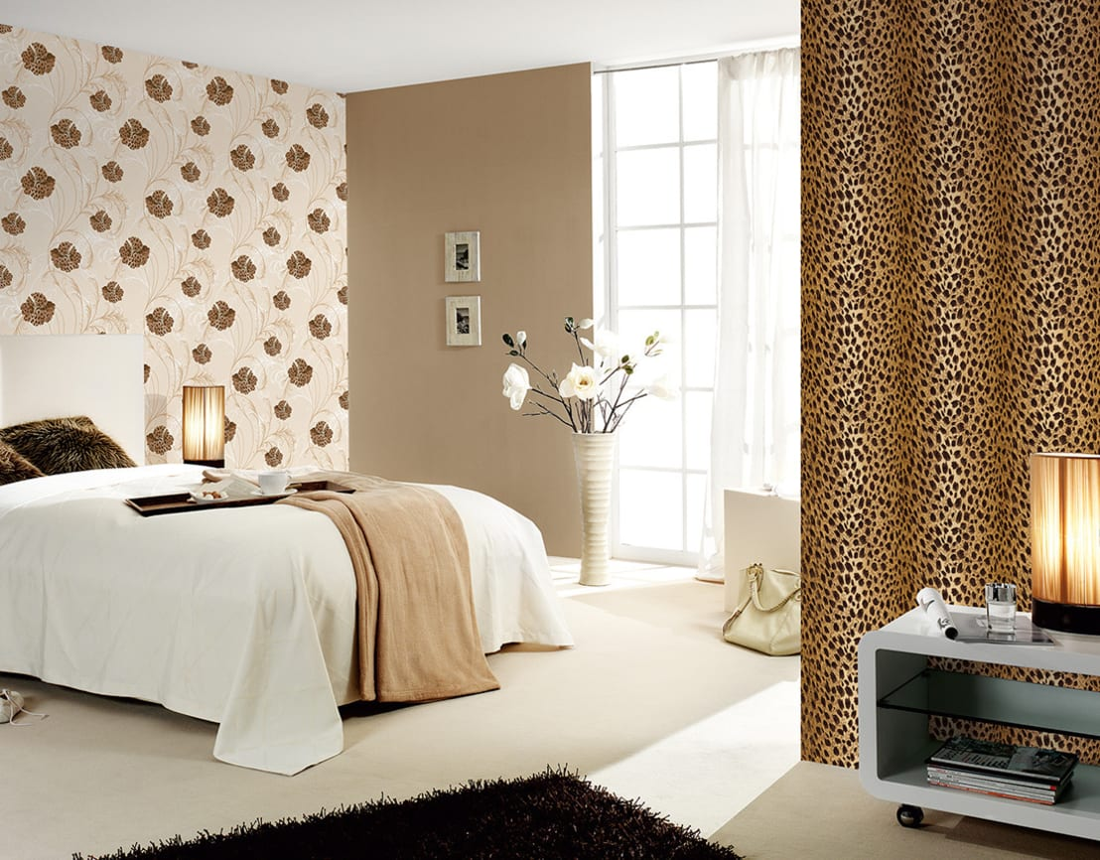 Леопардовые обои фото дизайн