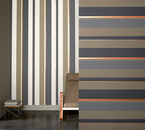Papel pintado de rayas horizontales o verticales - Paredes a rayas verticales ...