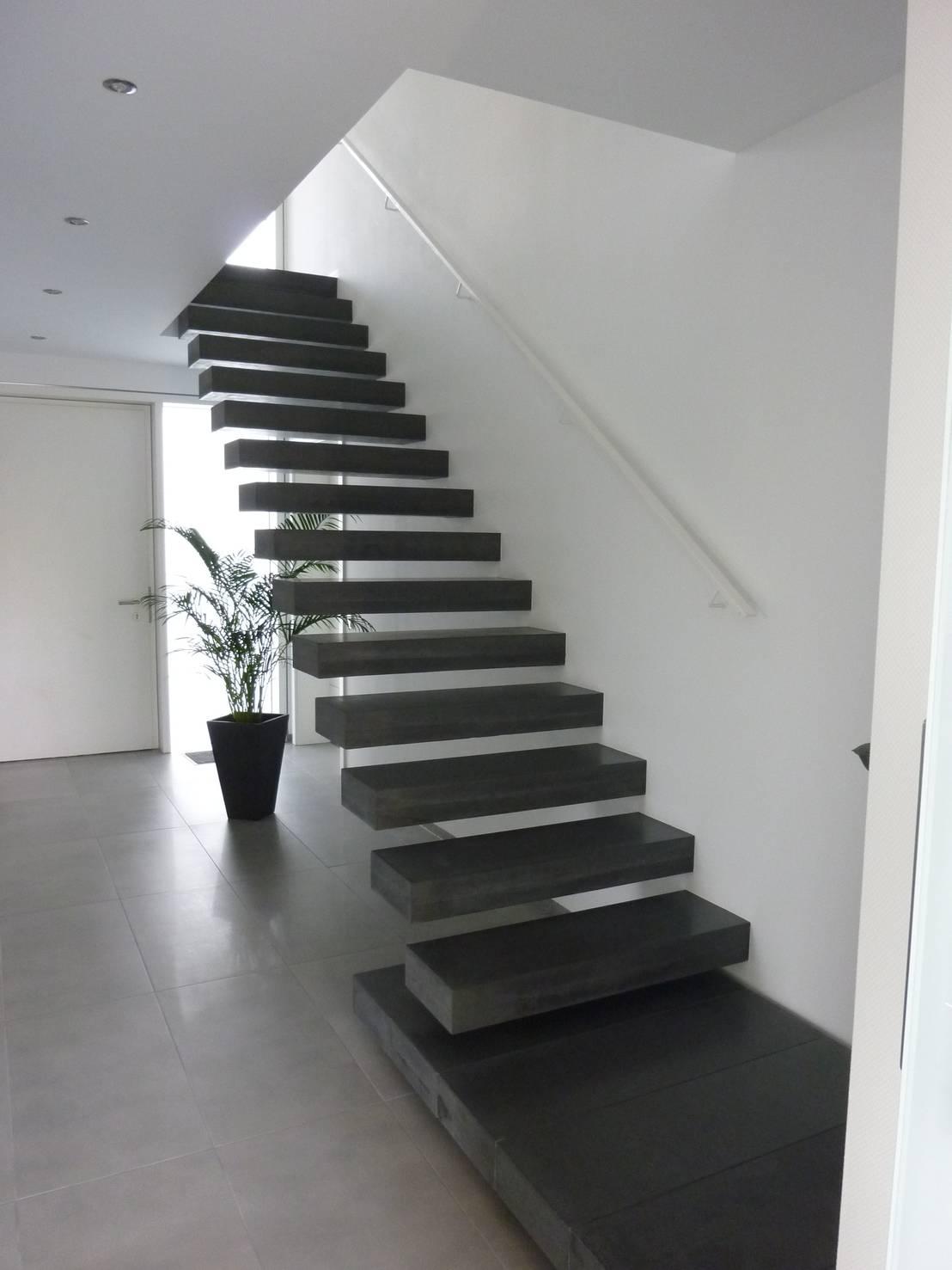 sichtbeton kragarmtreppe von harr betondesign homify. Black Bedroom Furniture Sets. Home Design Ideas
