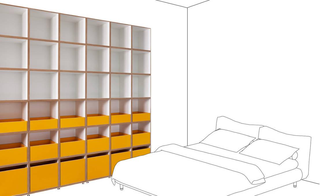 schlafzimmer door stocubo das modulare regalsystem homify. Black Bedroom Furniture Sets. Home Design Ideas