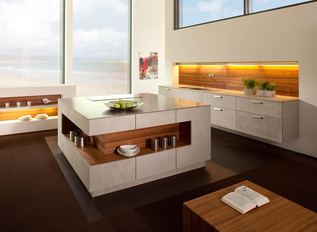 wohnk che mit imi beton von h schubert gmbh homify. Black Bedroom Furniture Sets. Home Design Ideas