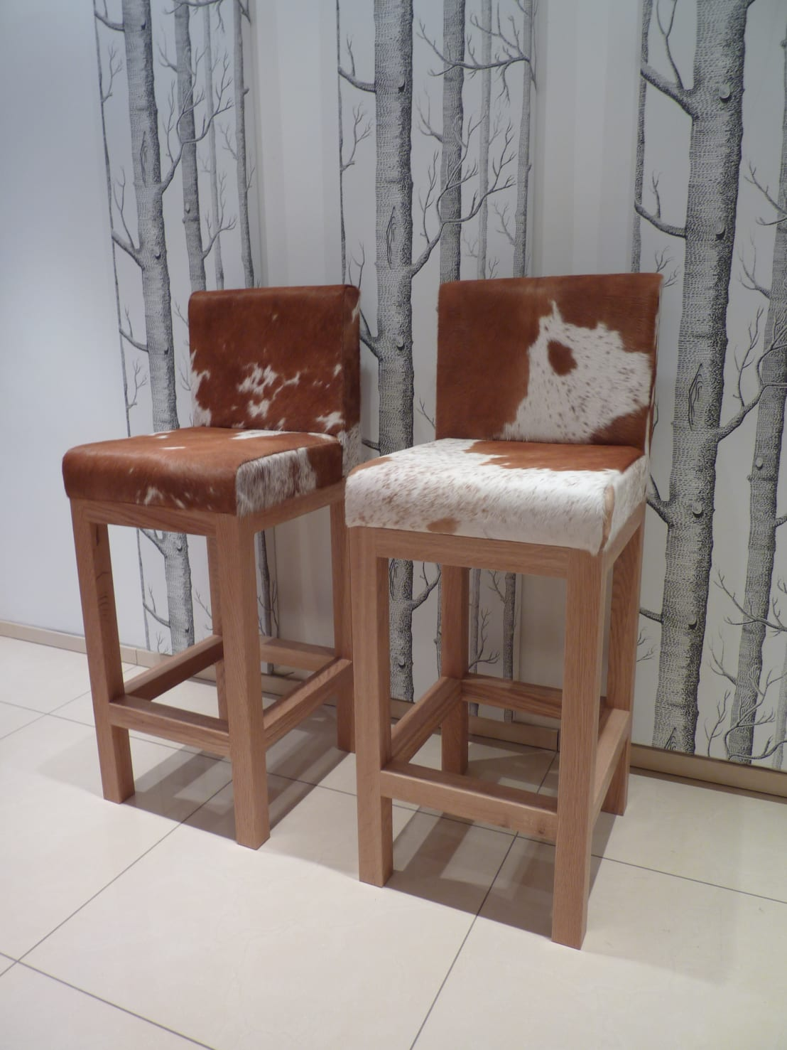cowhide bar  kitchen stools  homify