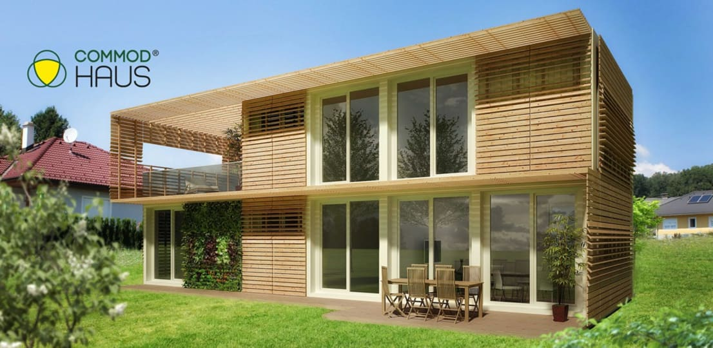 hausbau umweltfreundlich und schnell mit commod. Black Bedroom Furniture Sets. Home Design Ideas