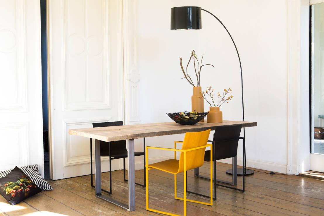 PURE Wood Design Industrieller Tisch Rohstahl von PURE Wood Design ...