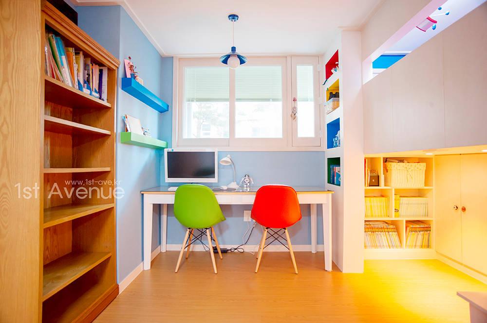 집중력 향상을 위한 아이 공부방 인테리어