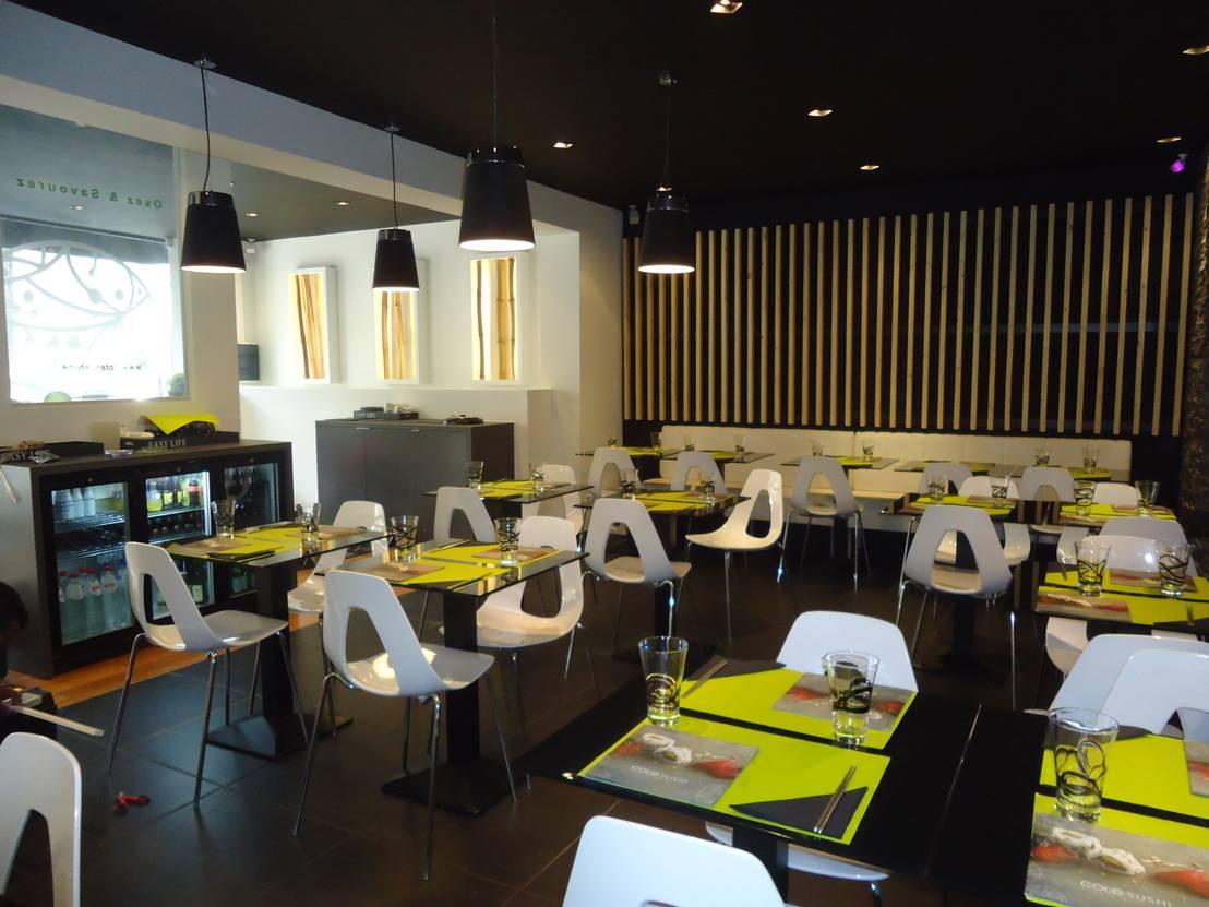 Am nagement restaurant cote sushi von ma interieur homify for Amenagement restaurant interieur