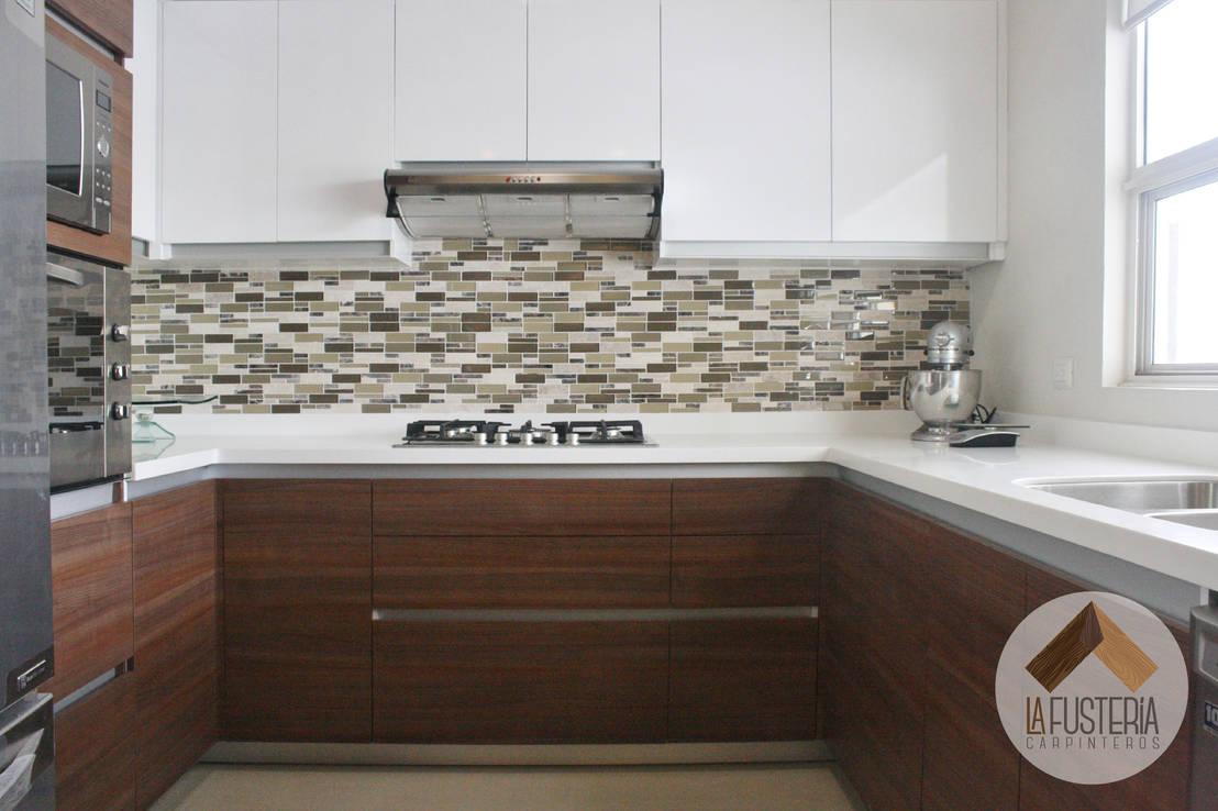 15 revestimientos modernos para las paredes de tu cocina - Proyectar en la pared ...