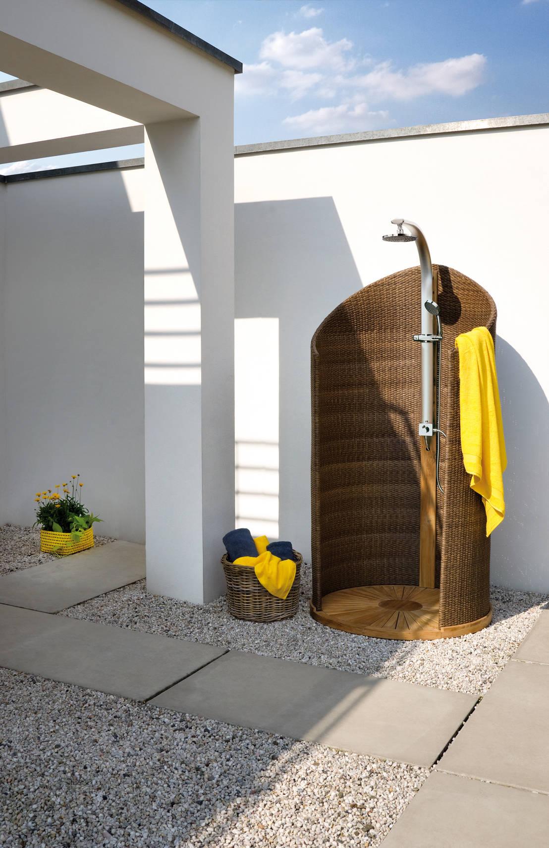 7 geniale outdoor duschen die wirklich in jeden garten passen - Sichtschutz dusche garten ...