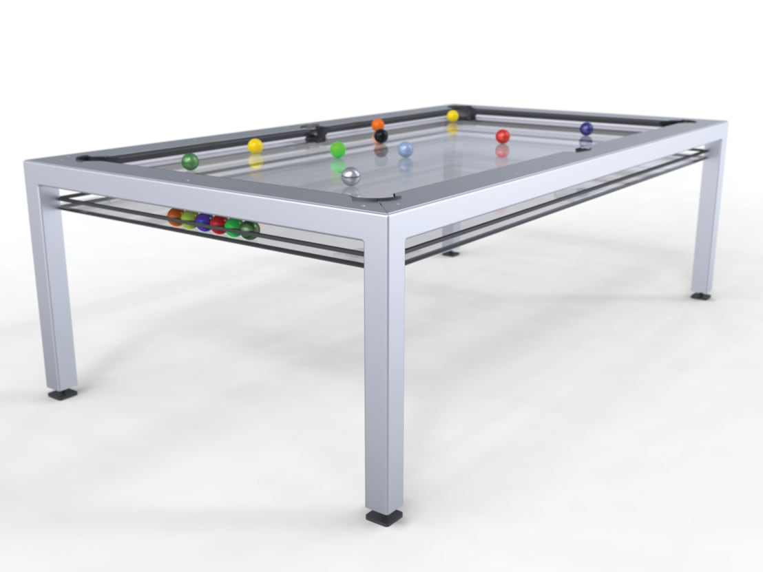 G4 glass pool table by quantum play homify for Glass billiard table