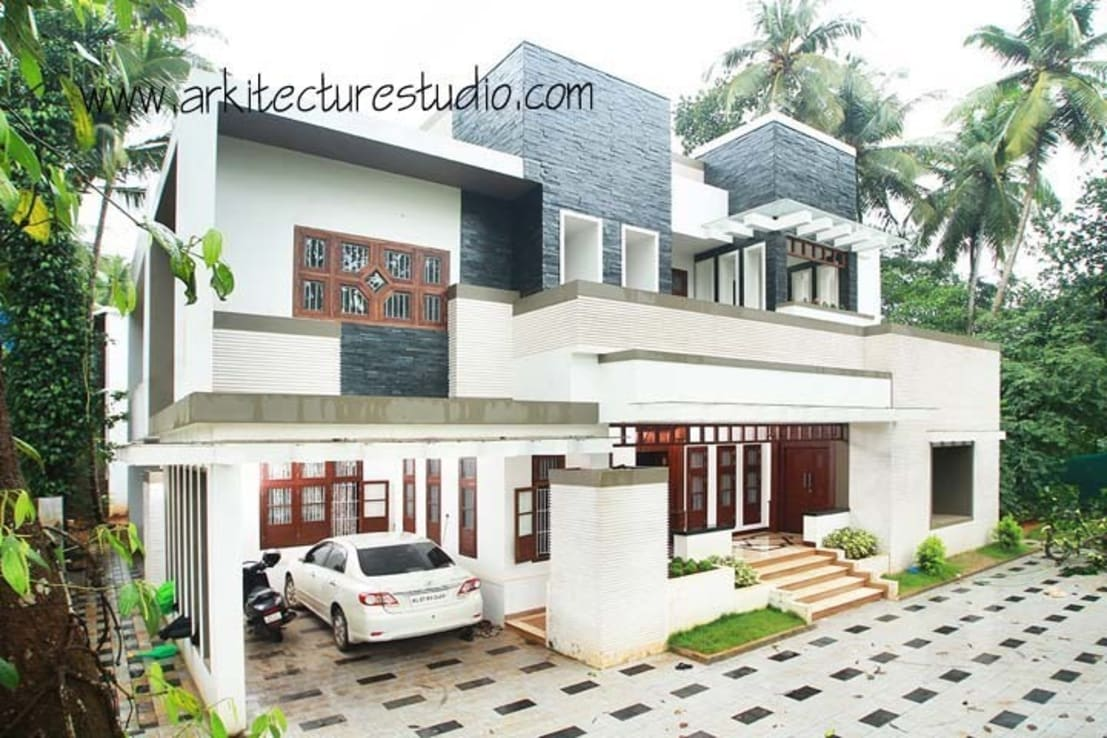 Architecture in kerala arkitecturestudio by arkitecture - Indian house exterior design pictures ...