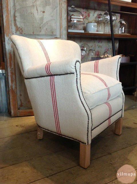 Sill n tapizado con tela de saco de vilmupa homify - Modernizar muebles antiguos ...