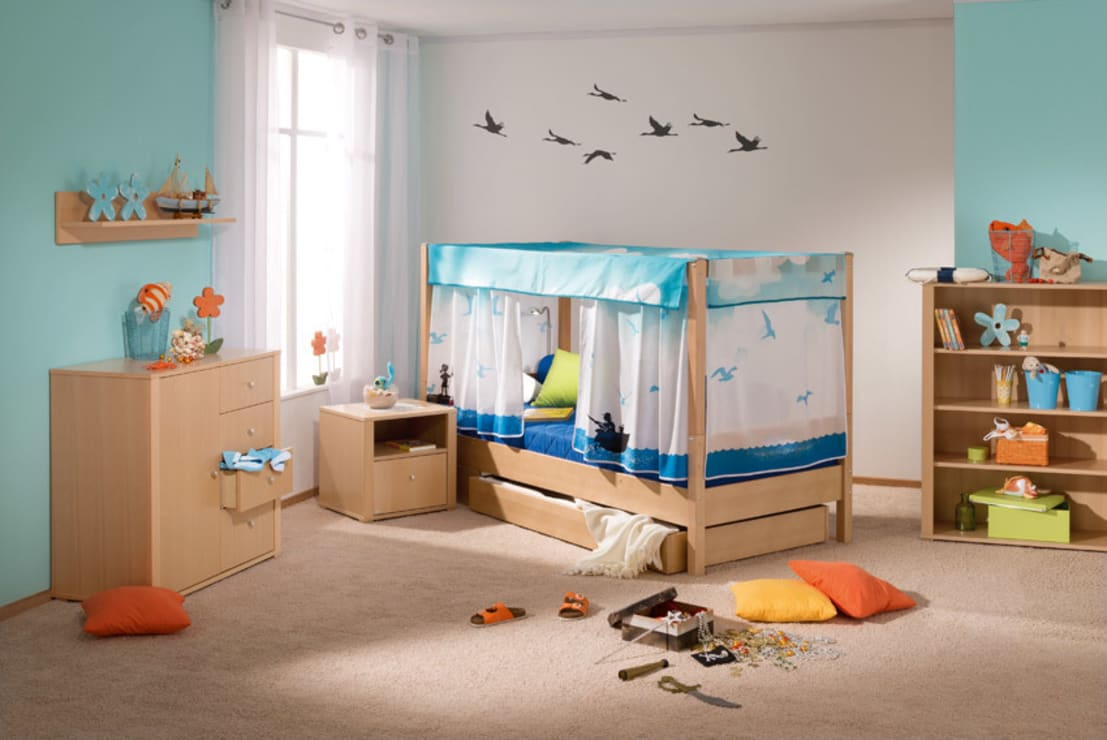 tendenziell blau 6 farben f r kinderzimmer. Black Bedroom Furniture Sets. Home Design Ideas