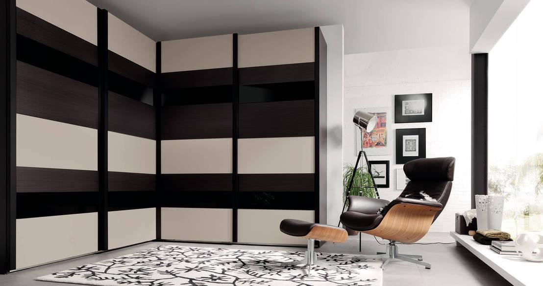 10 armarios para aprovechar los rincones del dormitorio - Armarios lacados en blanco ...