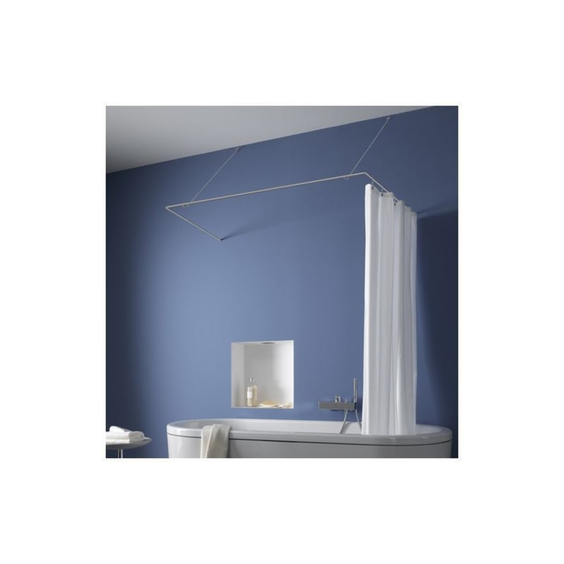bad und baden duschvorhangstange edelstahl massiv u form. Black Bedroom Furniture Sets. Home Design Ideas