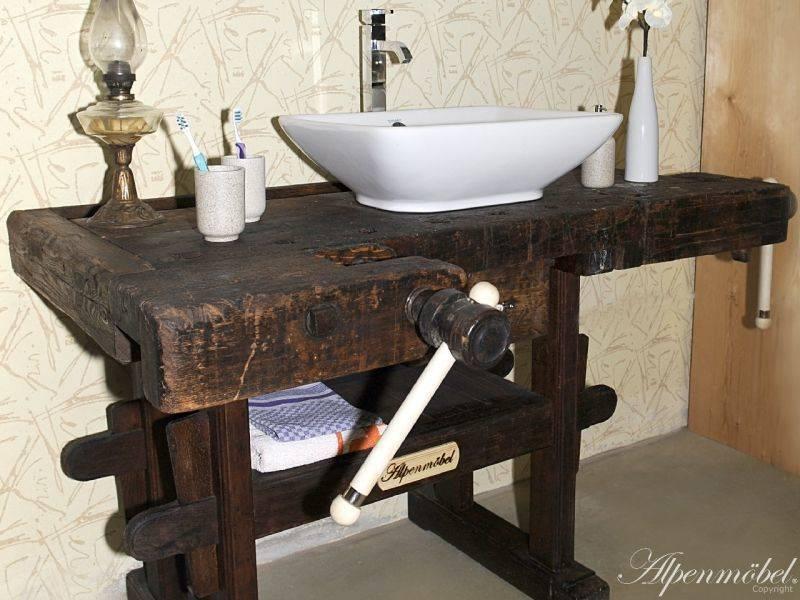 Alpenm bel hobelbank m bel f r das badezimmer von ywona e - Hobelbank wohnzimmer ...