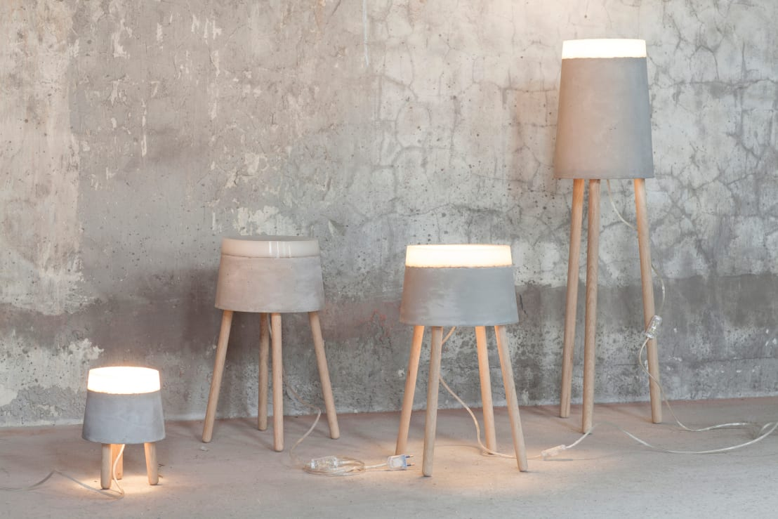 Concrete floortable lamps by renate vos product interior design concrete floortable lamps by renate vos product interior design homify geotapseo Choice Image
