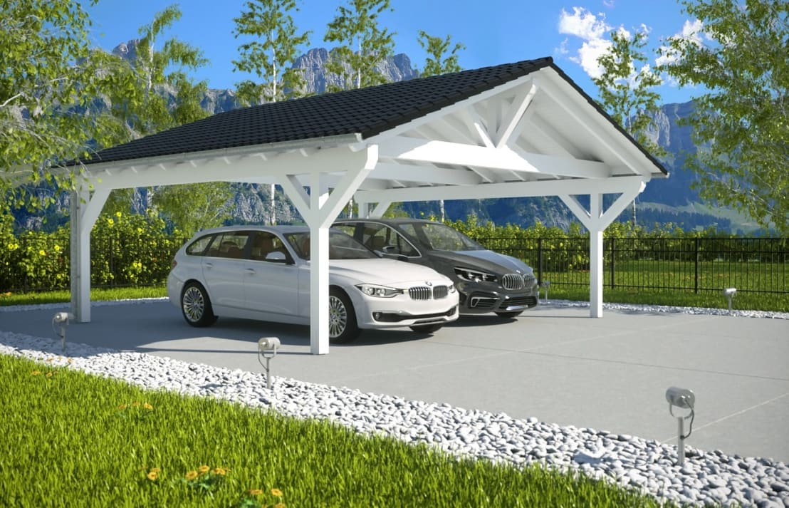 easy premium spitzdachcarport von solarterrassen carportwerk gmbh homify. Black Bedroom Furniture Sets. Home Design Ideas