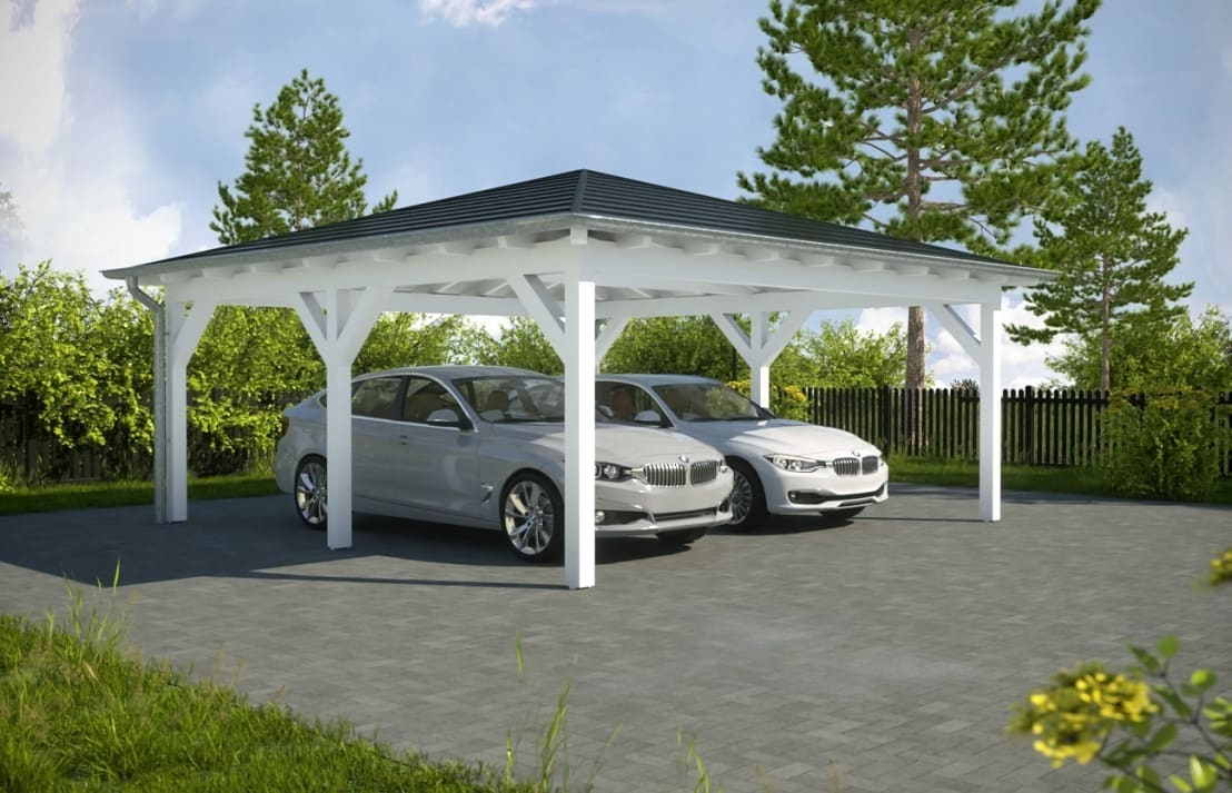 easy premium walmdachcarport von solarterrassen carportwerk gmbh homify. Black Bedroom Furniture Sets. Home Design Ideas