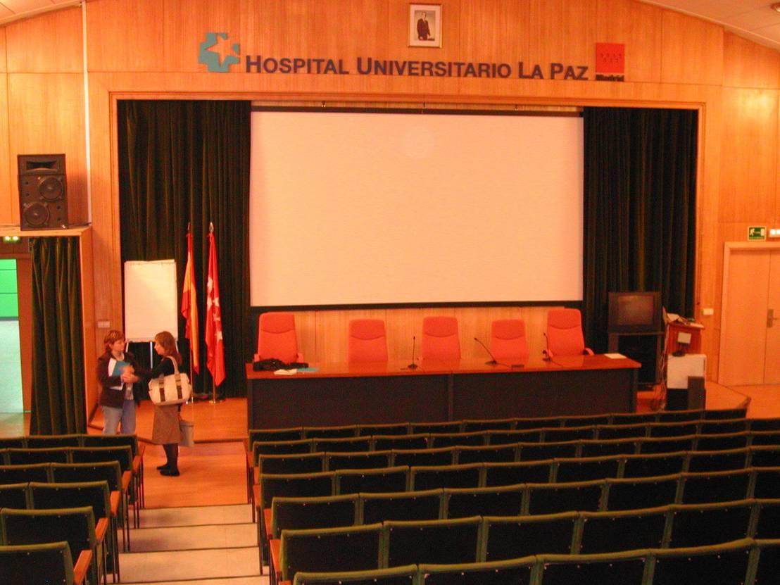 Salon de actos general hospital universitario de la paz en - Hospital universitario de la paz ...