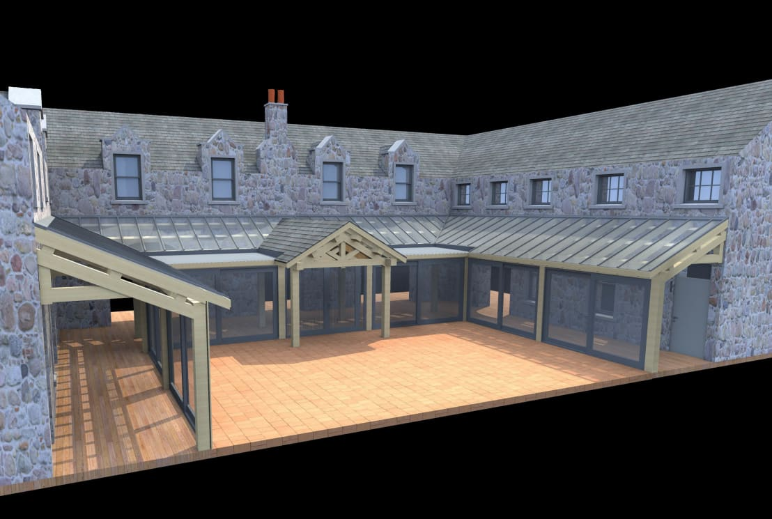 Steading conversion by architects scotland ltd homify for Arch design architects limited