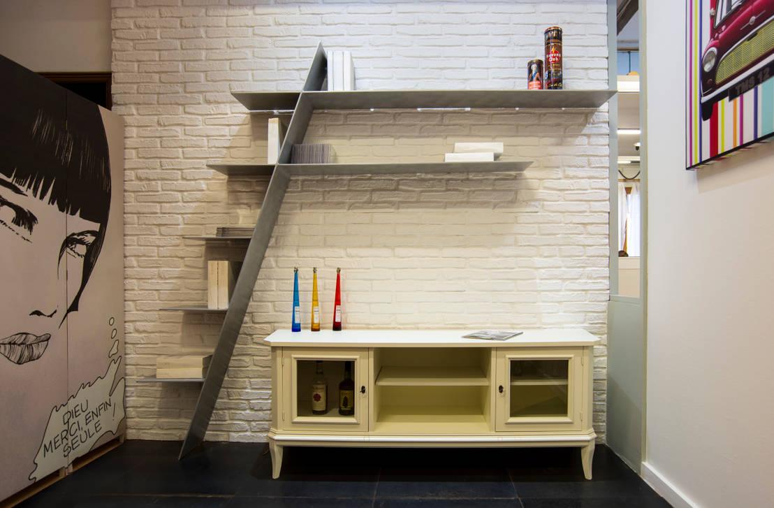 Aguzzoli arredamenti libreria f0 in alluminio designed by for Profili arredamenti