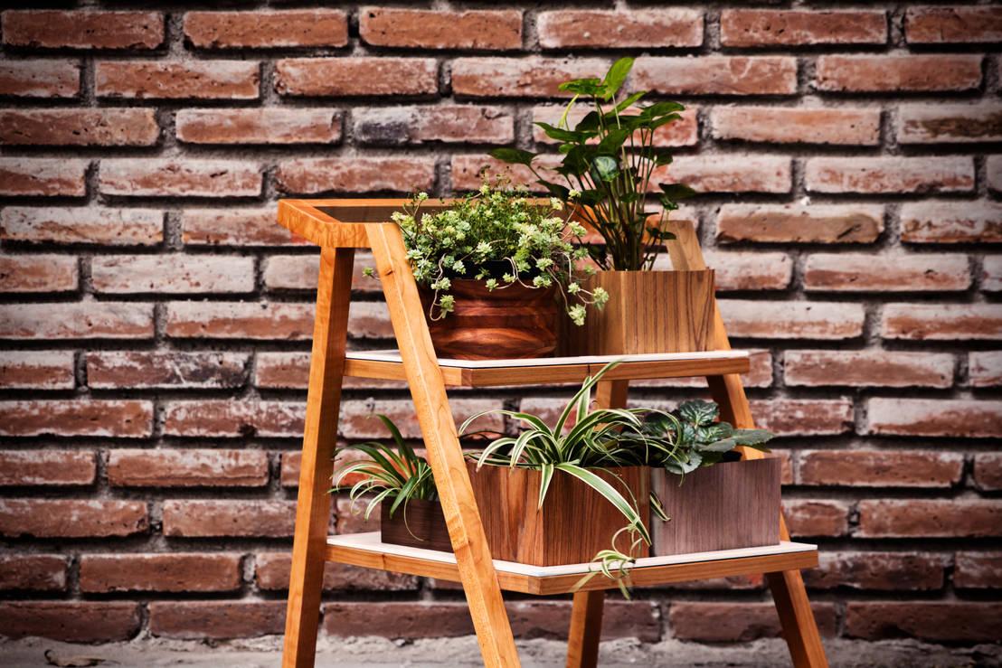 Jardineras de madera para interior y exterior for Budas grandes para jardin