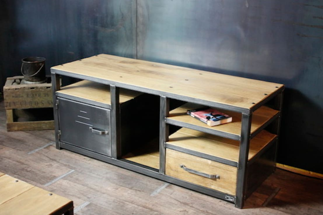 Nos meubles tv de style industriel par micheli design homify - Meuble tv loft industriel ...