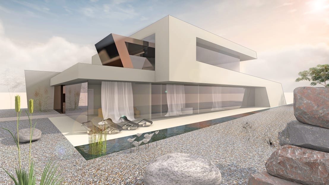 flow architektur designstudie architektenvilla homify. Black Bedroom Furniture Sets. Home Design Ideas