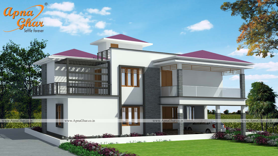 Duplex house design by homify for Independent house designs in india