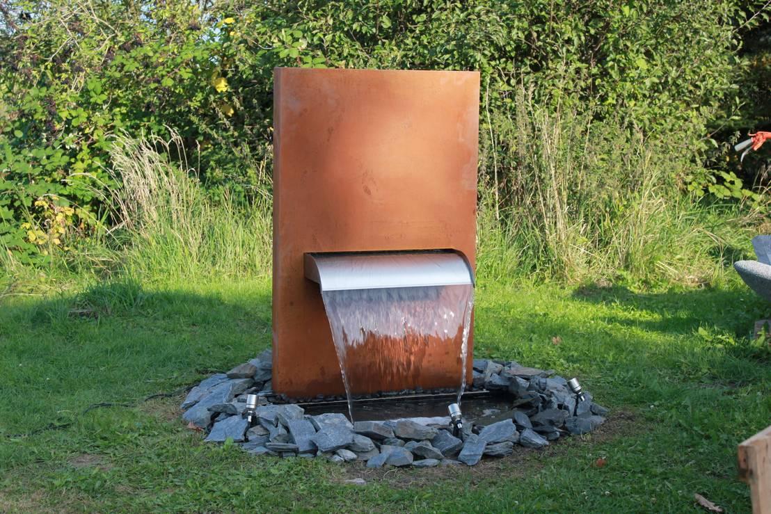 gartenbrunnen von gauger design von gauger design homify. Black Bedroom Furniture Sets. Home Design Ideas
