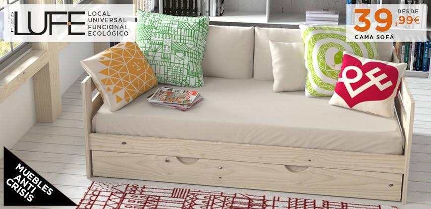 Muebles de madera maciza y fabricaci n local muy for Muebles lufe sofa cama