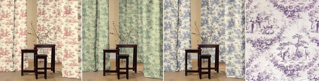 D coration sur mesure en toile de jouy rideau et tissu - Magazine de decoration interieure gratuit ...