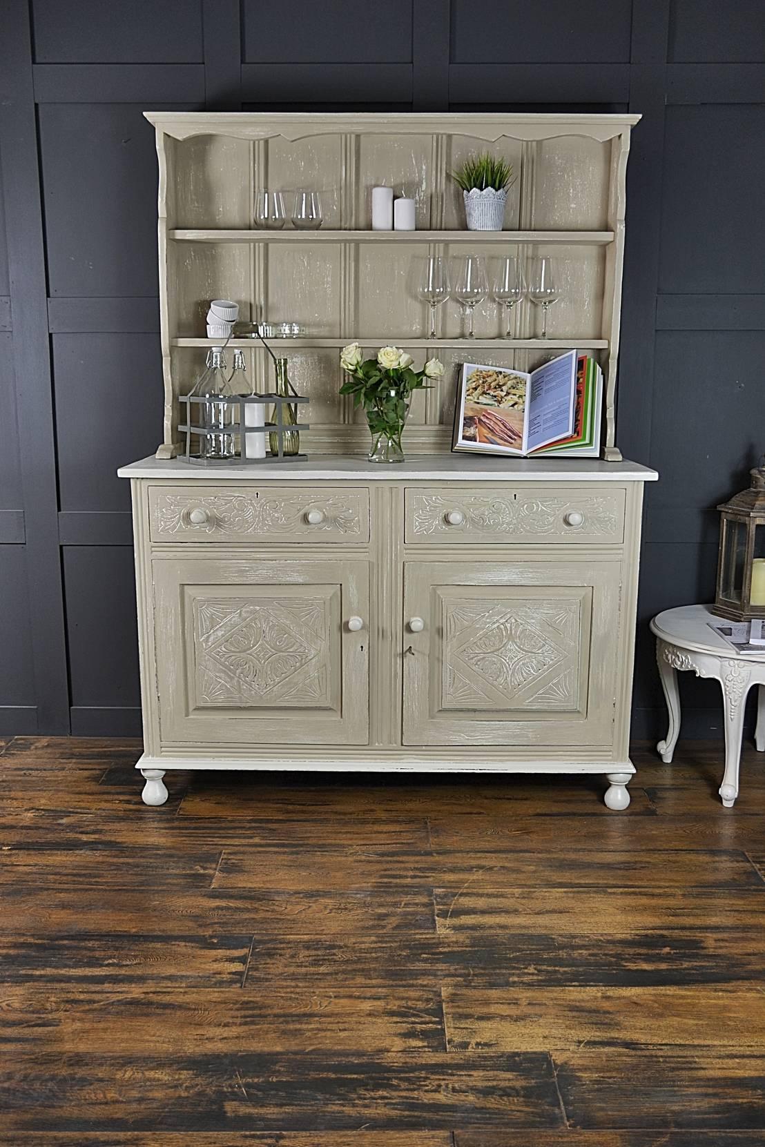 shabby chic antique oak kitchen dresser by the treasure. Black Bedroom Furniture Sets. Home Design Ideas