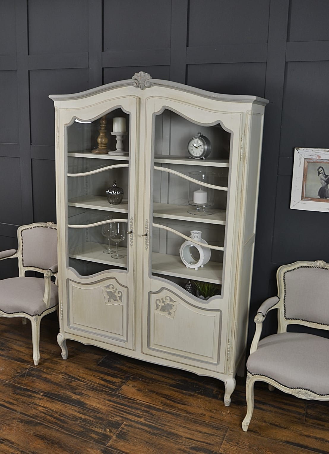 shabby chic french glazed bookcase von the treasure trove. Black Bedroom Furniture Sets. Home Design Ideas