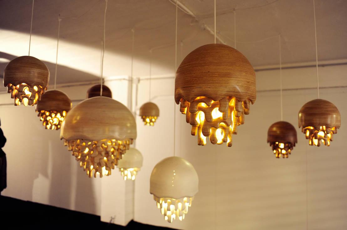 luminaire en bois originaux par bois des corbeaux homify. Black Bedroom Furniture Sets. Home Design Ideas