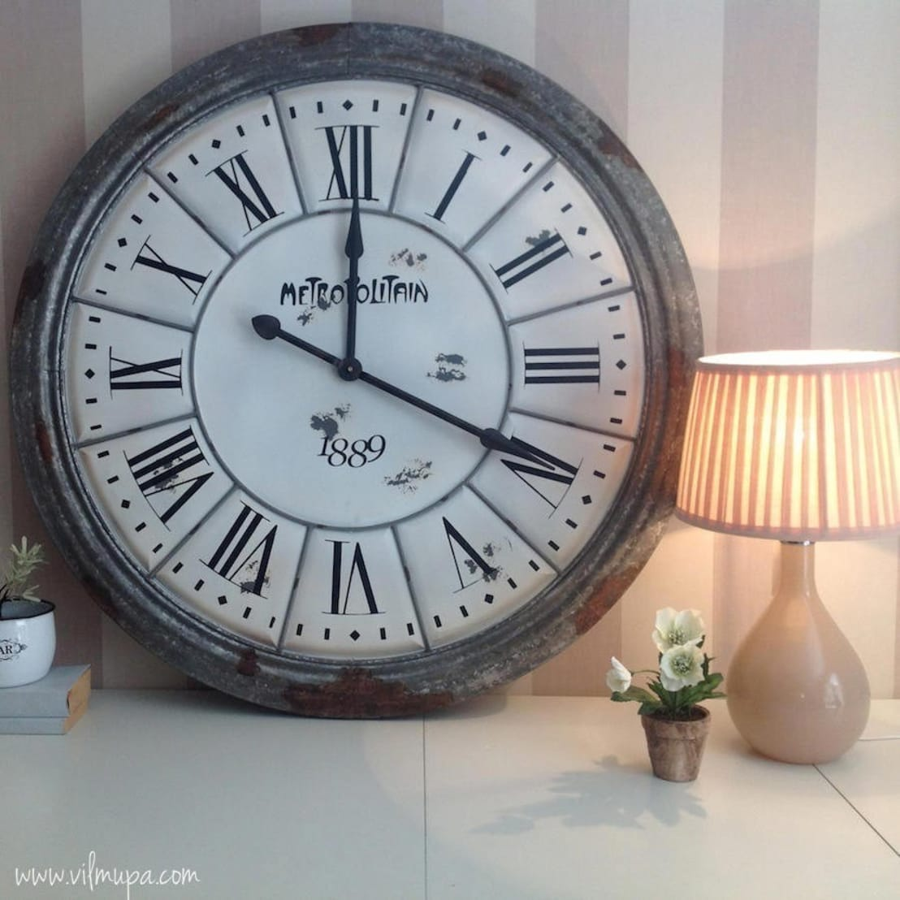Reloj estilo industrial by vilmupa homify for Vitrina estilo industrial