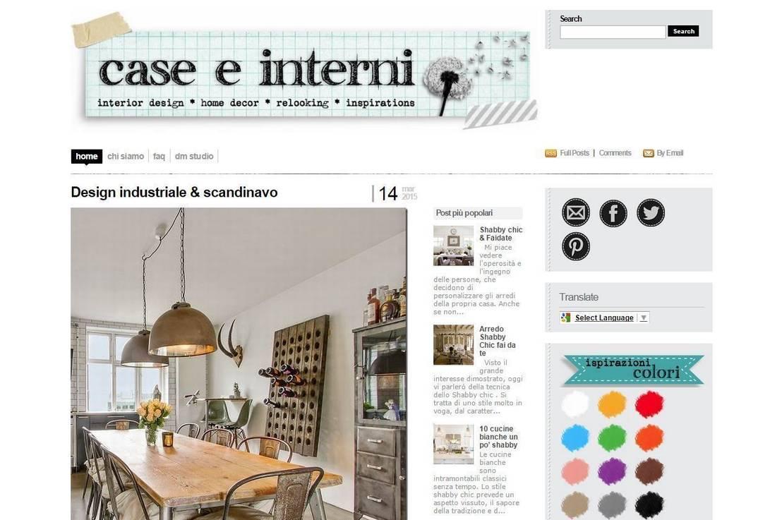I migliori blog italiani di arredamento e design for Migliori designer di mobili italiani