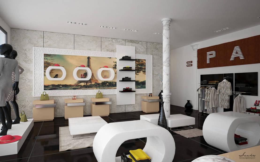 Design render negozio abbigliamento roma paris by for Negozi design online