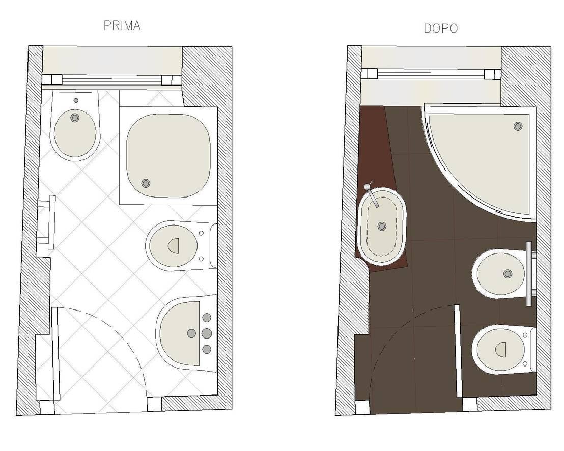 Bagno tutto in 2 5 mq di studio architettura vitale homify - Progetto bagno piccolo idee ...