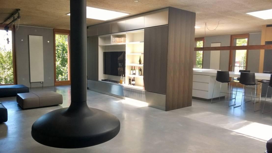 komplettausstattung eines zweist ckigen lofts di isoluzioni exklusivit t stil und design. Black Bedroom Furniture Sets. Home Design Ideas