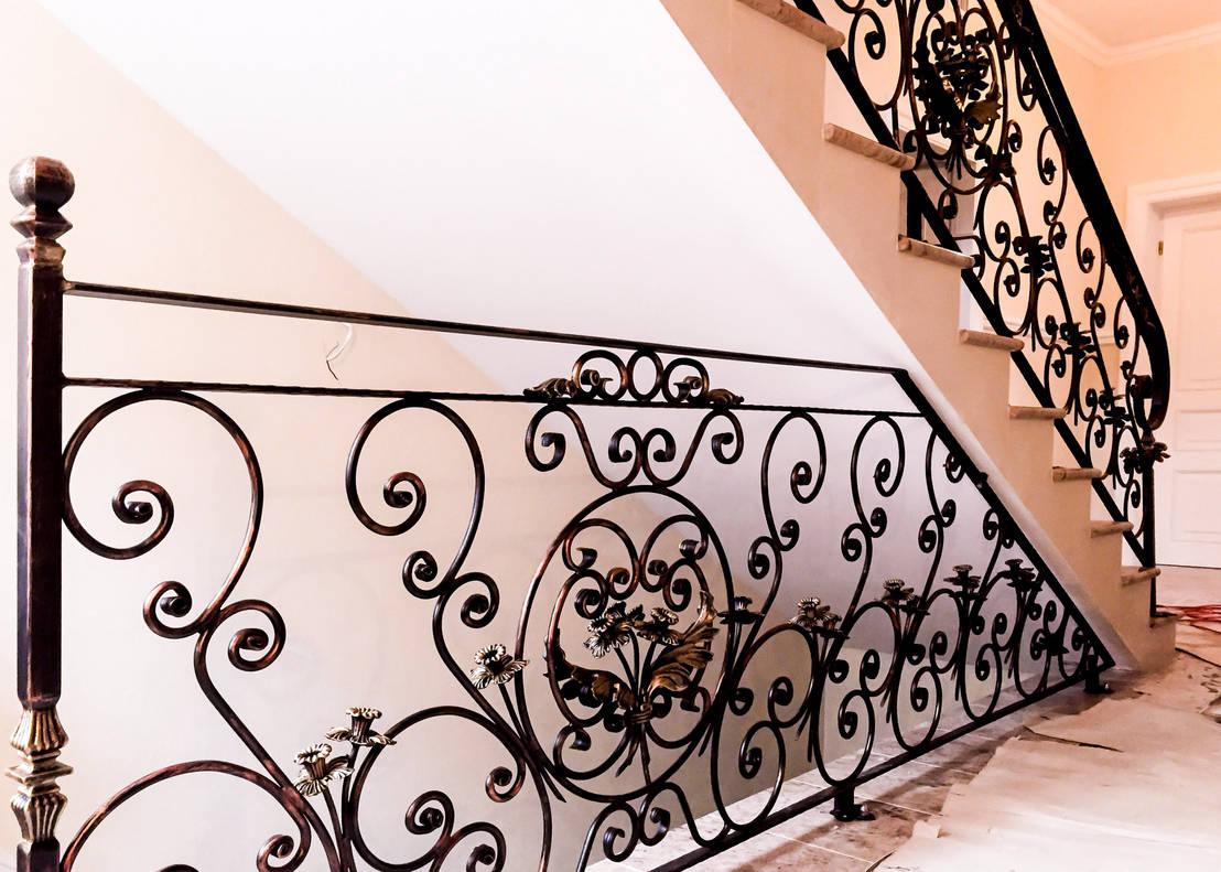 9 escaleras de hierro forjado para casas con encanto - Escaleras de hierro forjado ...