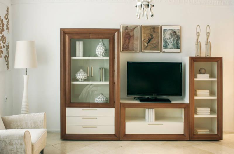 Muestrario de muebles para el hogar de muebles sarria homify - Salones estilo colonial moderno ...