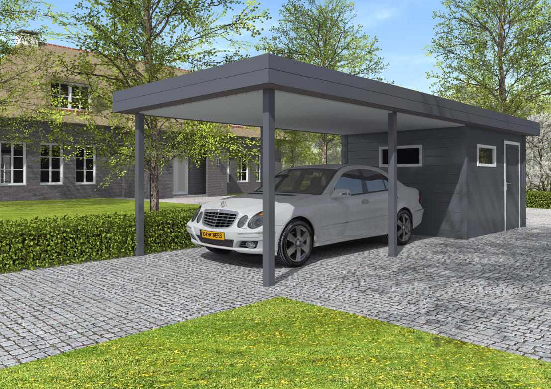 aluminium carports door gardendreams international gmbh. Black Bedroom Furniture Sets. Home Design Ideas