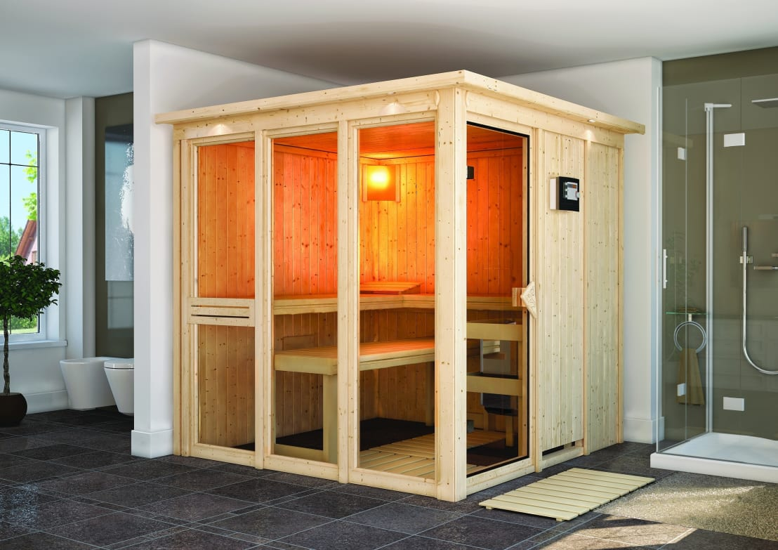 systemsauna niral profesjonalista karibu holztechnik. Black Bedroom Furniture Sets. Home Design Ideas
