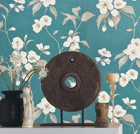 florale tapeten diese modelle sorgen. Black Bedroom Furniture Sets. Home Design Ideas